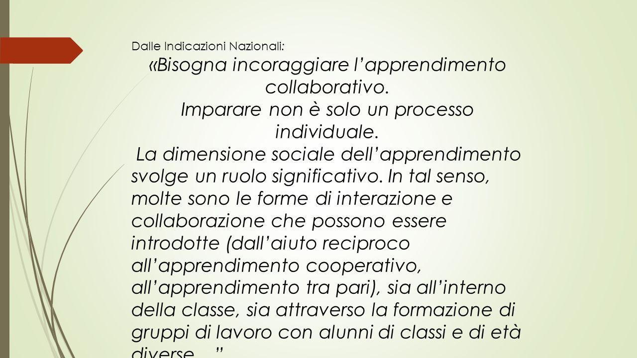 «Bisogna incoraggiare l'apprendimento collaborativo.