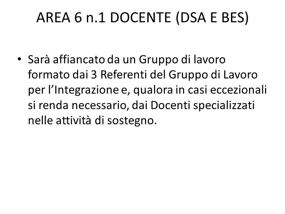 AREA 6 n.1 DOCENTE (DSA E BES)