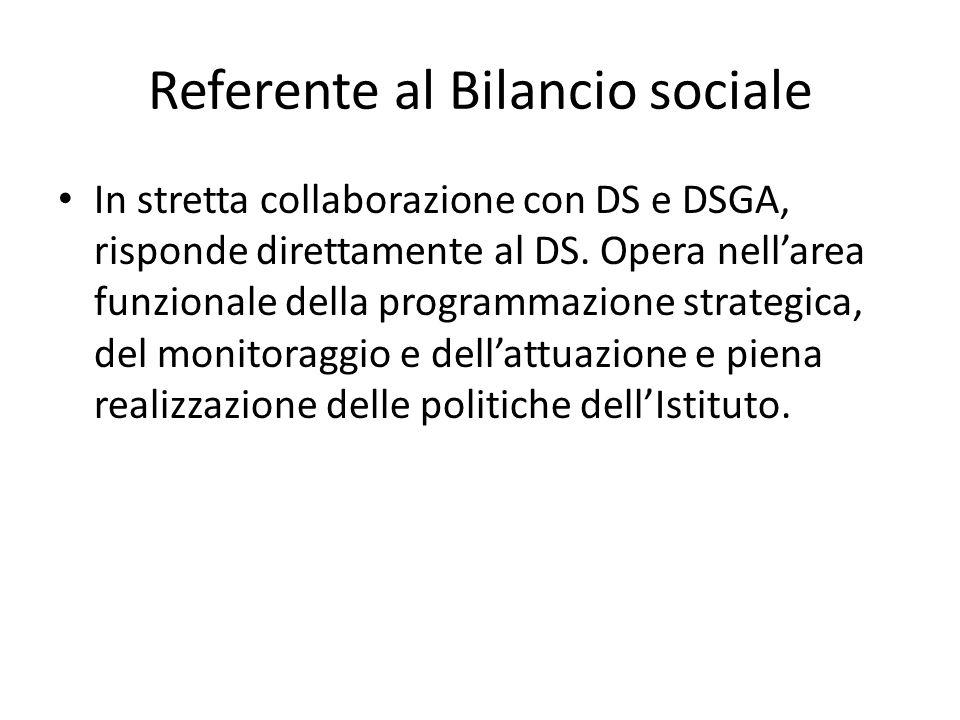 Referente al Bilancio sociale