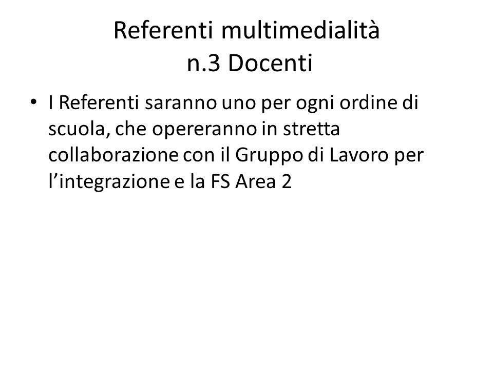 Referenti multimedialità n.3 Docenti
