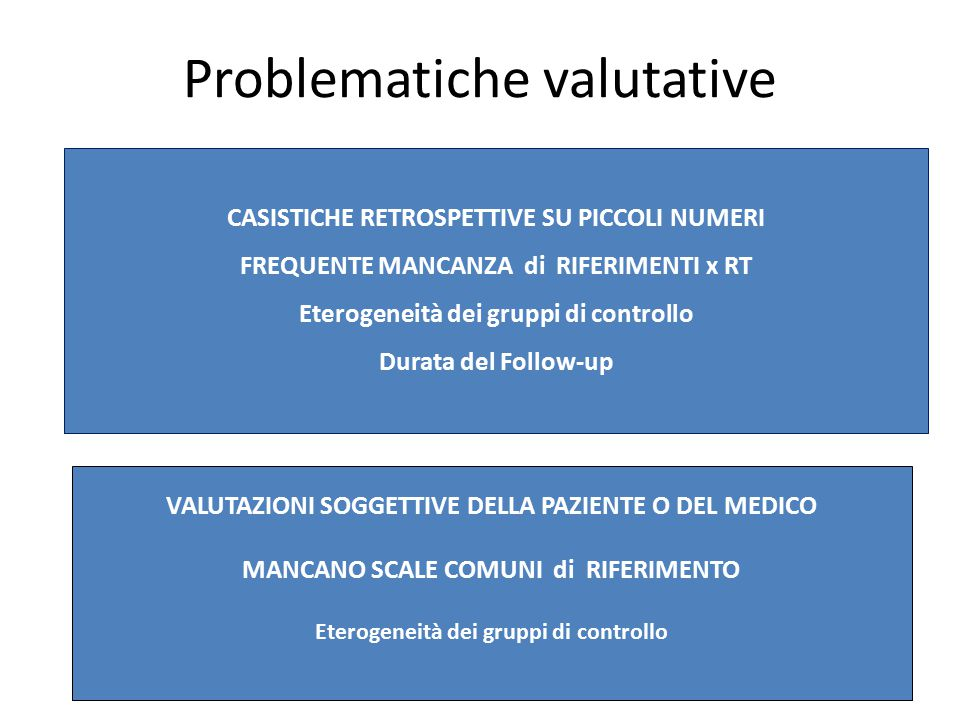 Problematiche valutative