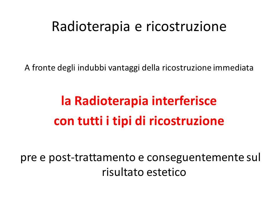 Radioterapia e ricostruzione