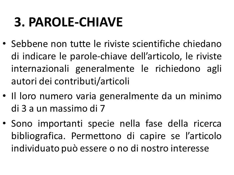 3. PAROLE-CHIAVE