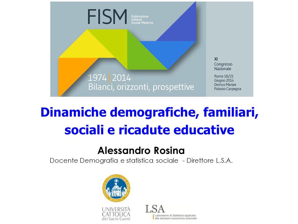 Dinamiche demografiche, familiari, sociali e ricadute educative