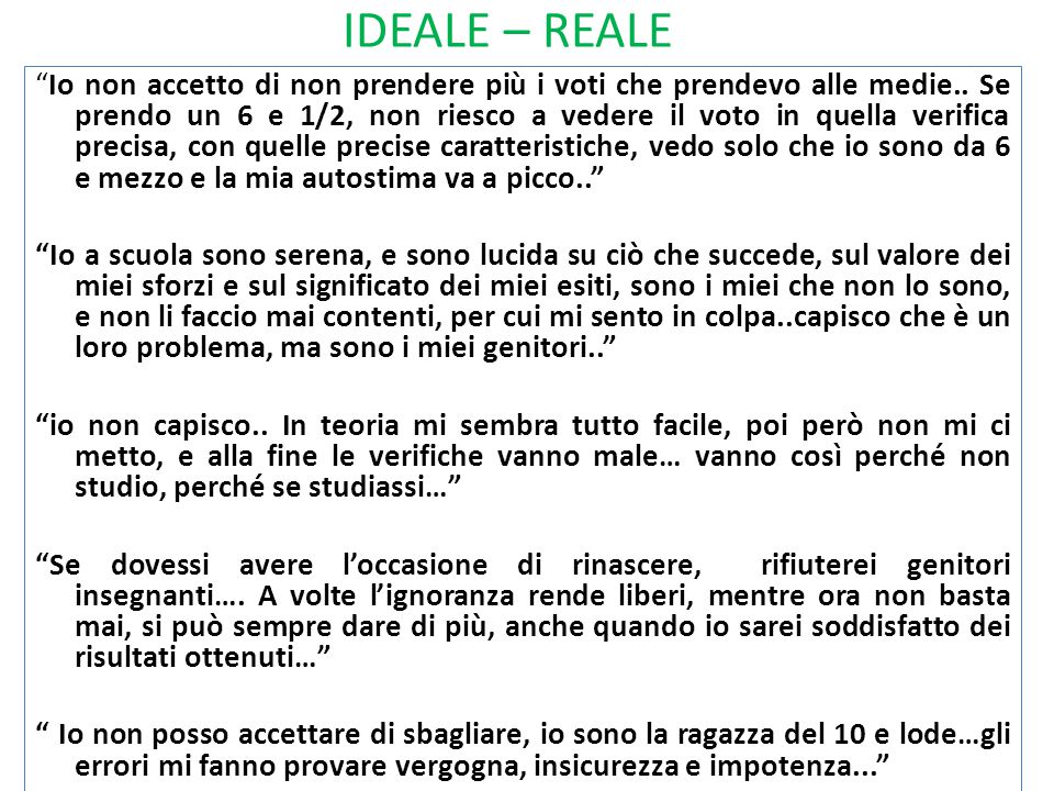 IDEALE – REALE