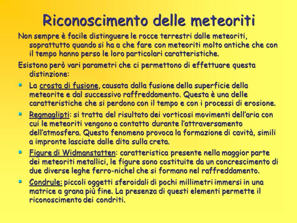 Riconoscimento delle meteoriti