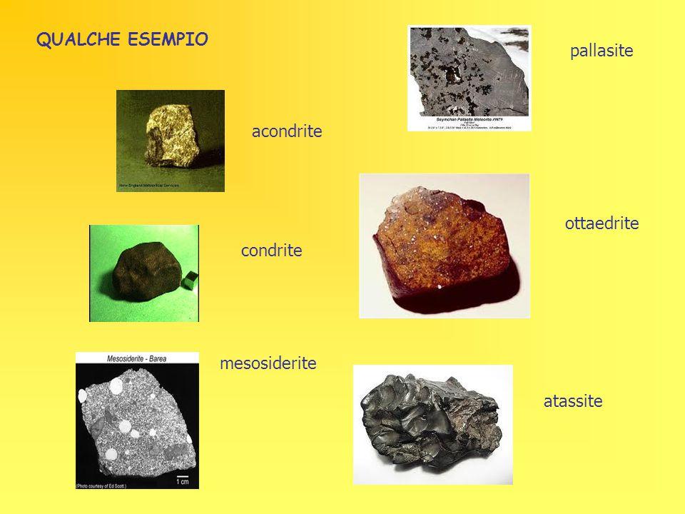 QUALCHE ESEMPIO pallasite acondrite ottaedrite condrite mesosiderite atassite