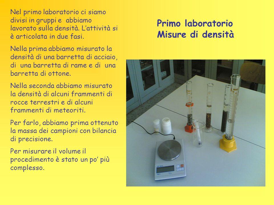 Primo laboratorio Misure di densità