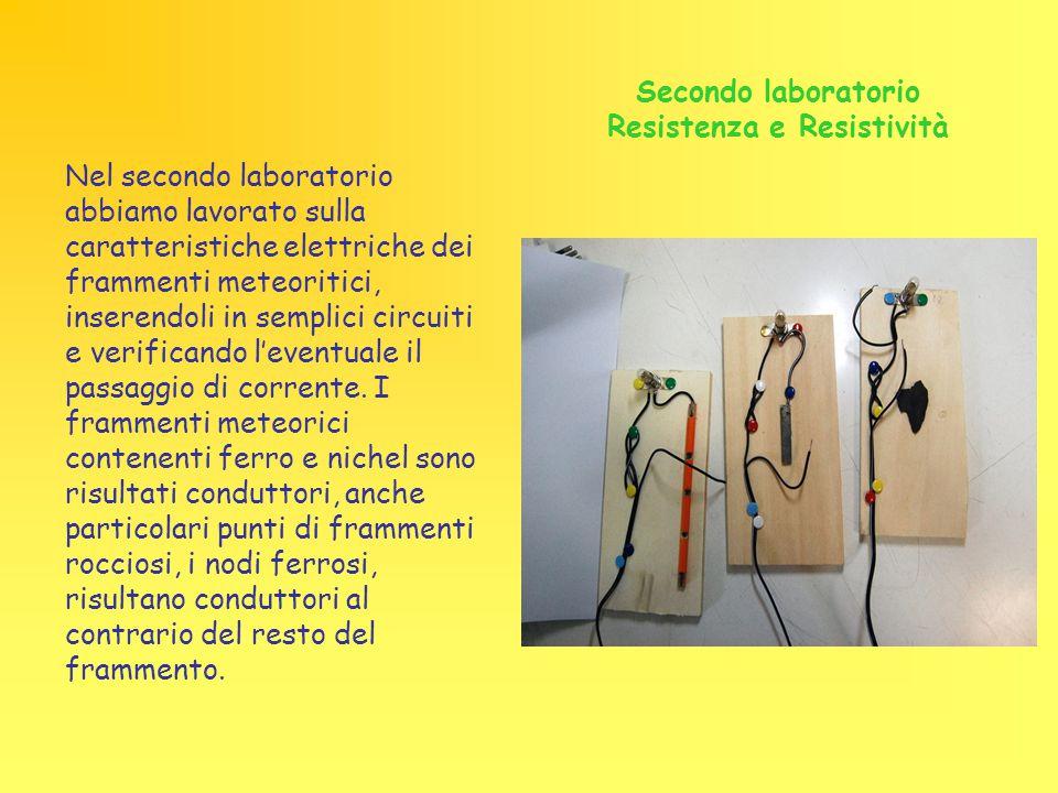Secondo laboratorio Resistenza e Resistività