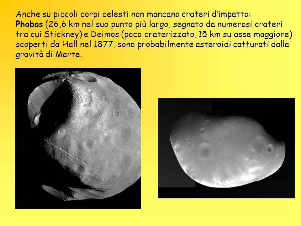 Anche su piccoli corpi celesti non mancano crateri d'impatto:
