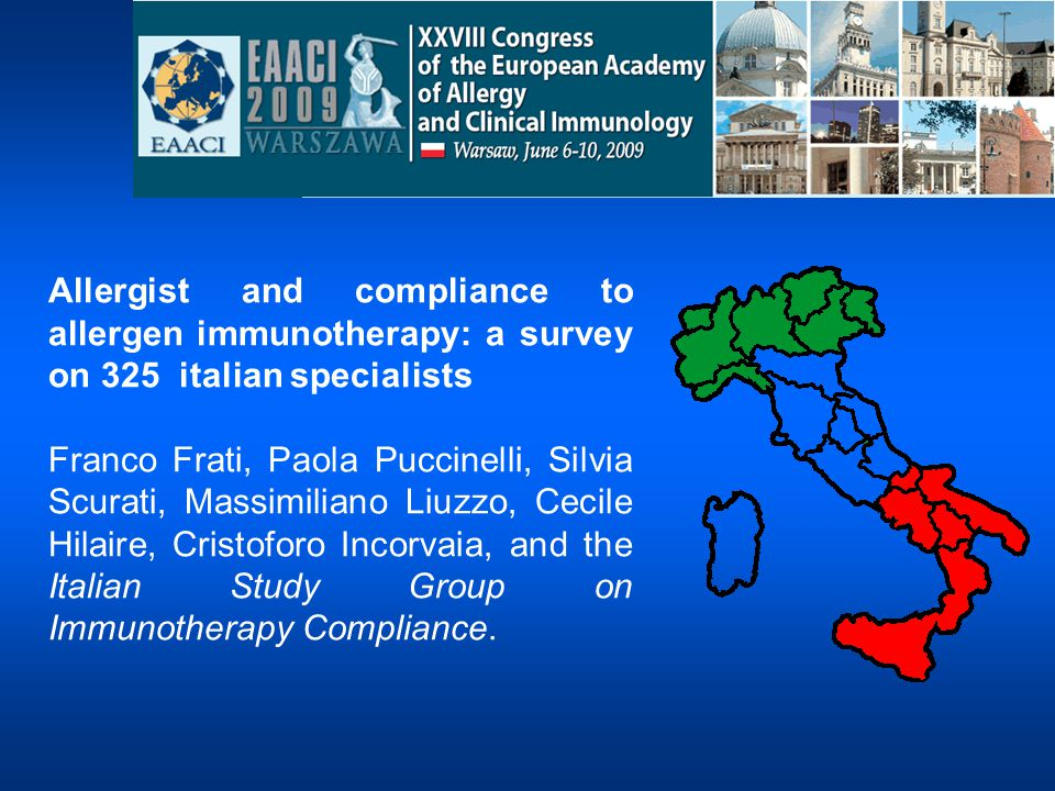 Allergist and compliance to allergen immunotherapy: a survey on 325 italian specialists