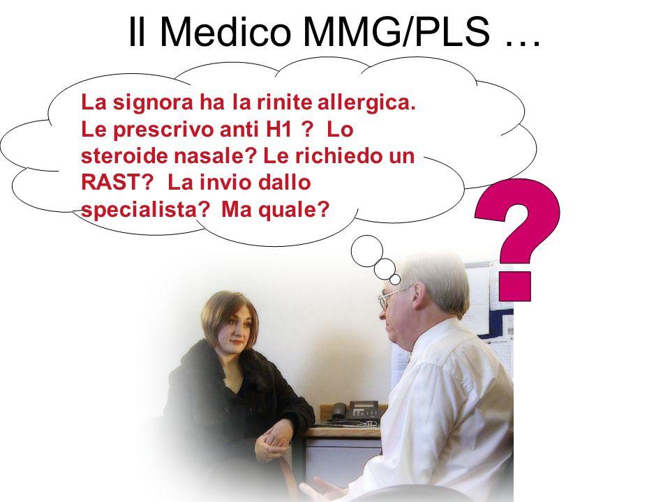 Il Medico MMG/PLS … La signora ha la rinite allergica.