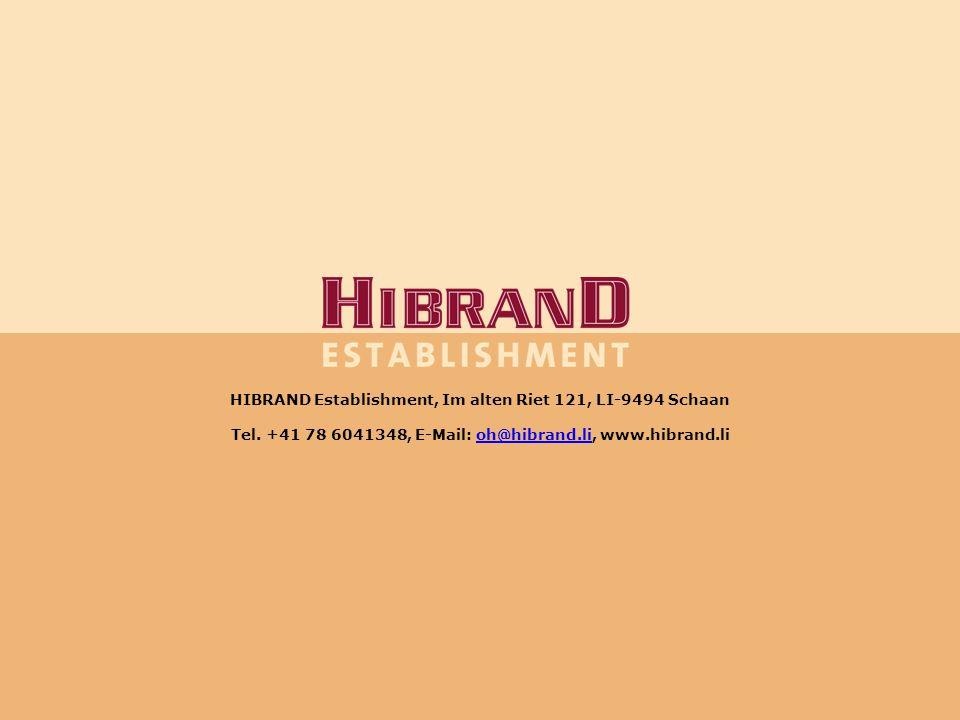 HIBRAND Establishment, Im alten Riet 121, LI-9494 Schaan