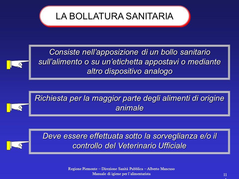 LA BOLLATURA SANITARIA