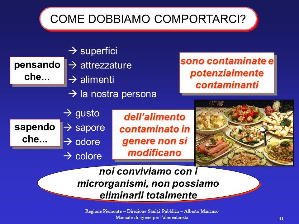 COME DOBBIAMO COMPORTARCI