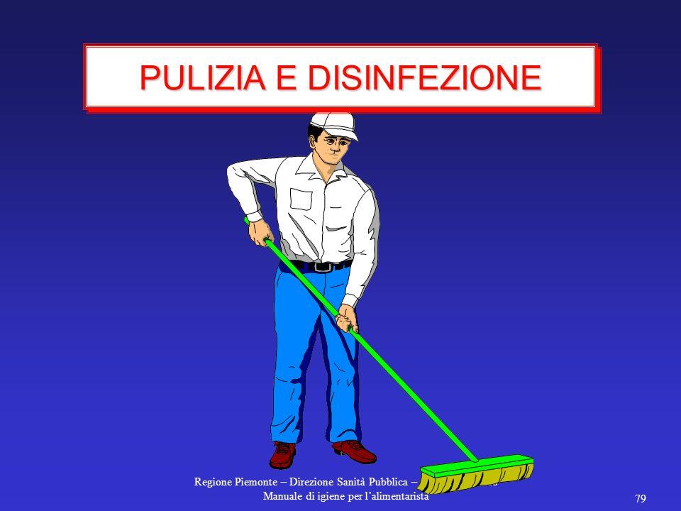 PULIZIA E DISINFEZIONE