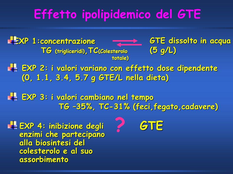 Effetto ipolipidemico del GTE