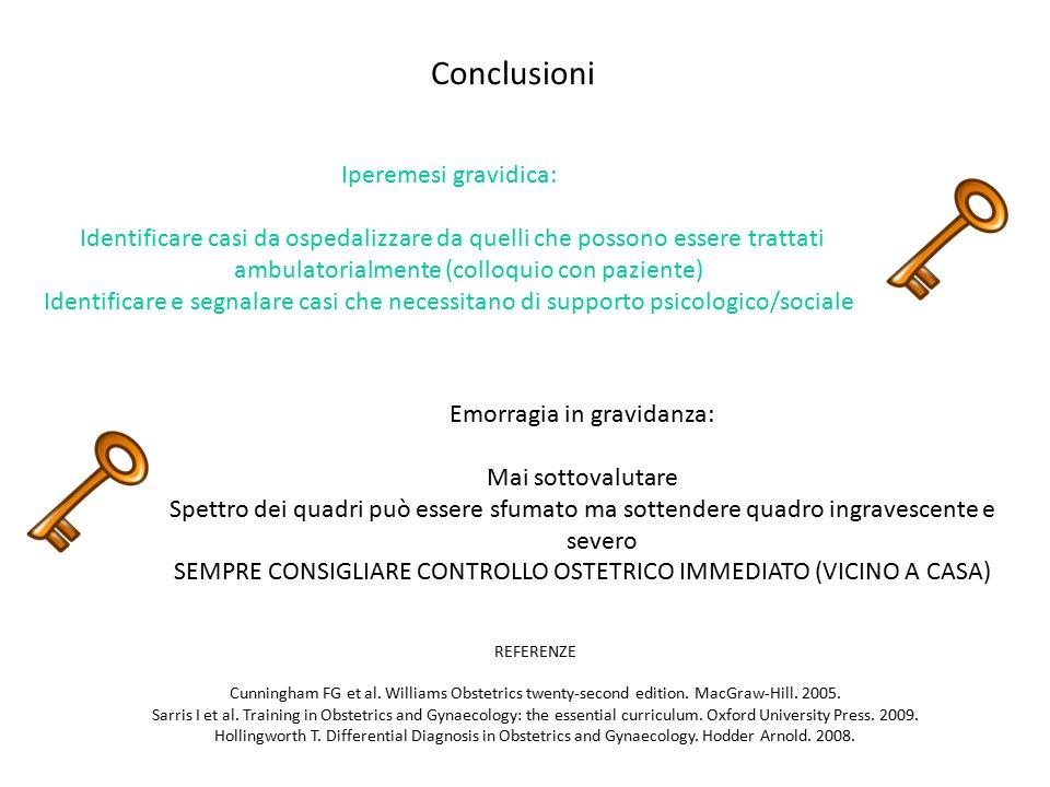 Conclusioni Iperemesi gravidica: