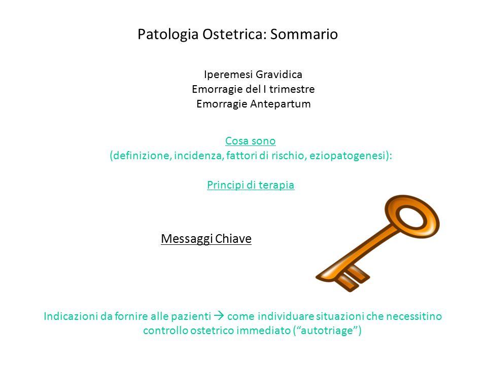 Patologia Ostetrica: Sommario
