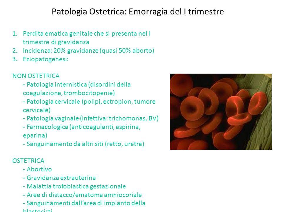 Patologia Ostetrica: Emorragia del I trimestre