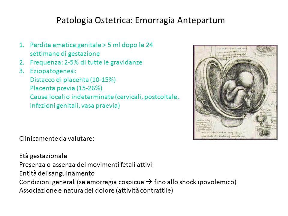 Patologia Ostetrica: Emorragia Antepartum