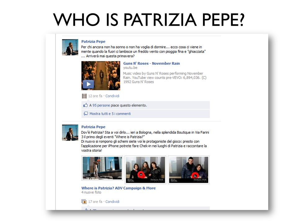 WHO IS PATRIZIA PEPE