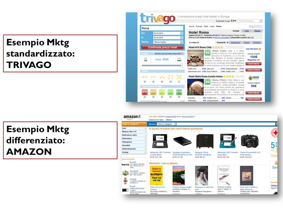 Esempio Mktg standardizzato: TRIVAGO