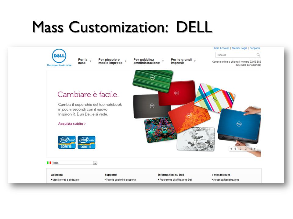 Mass Customization: DELL