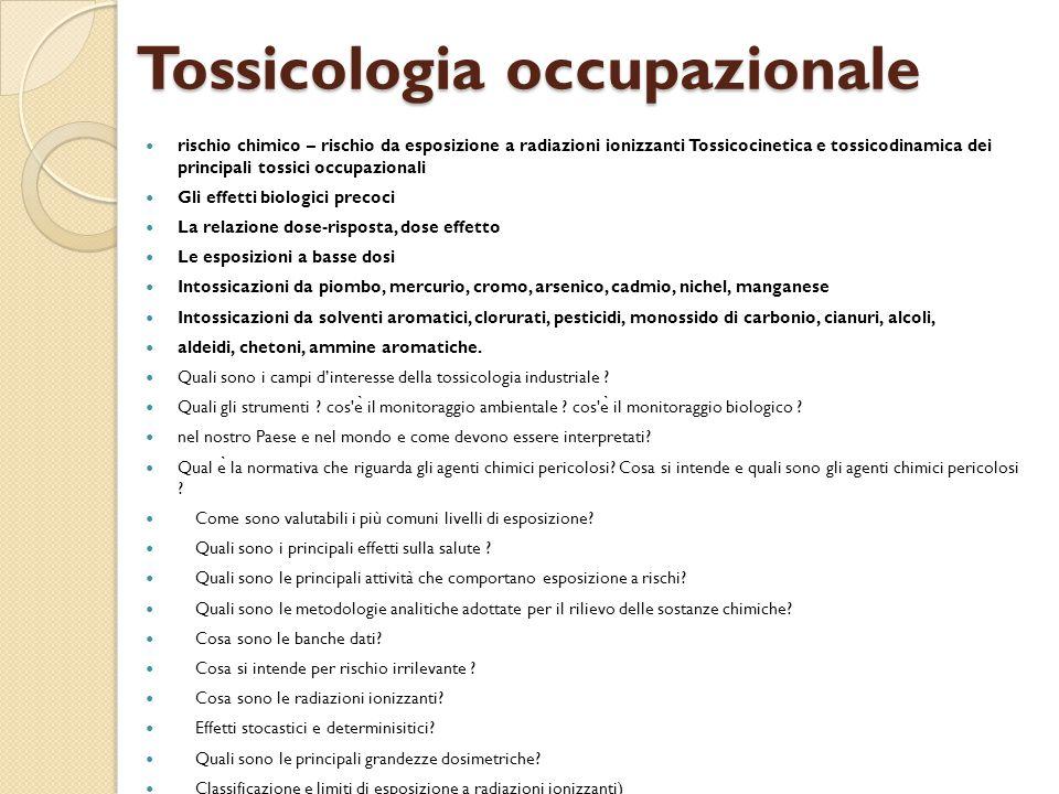 Tossicologia occupazionale