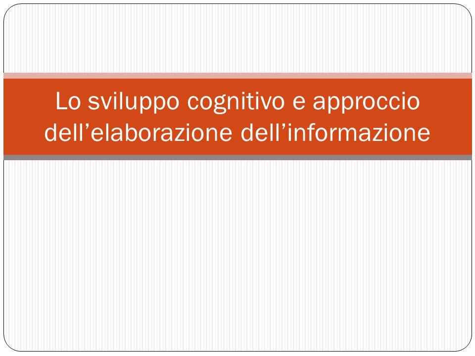 Lo sviluppo cognitivo e approccio dell'elaborazione dell'informazione