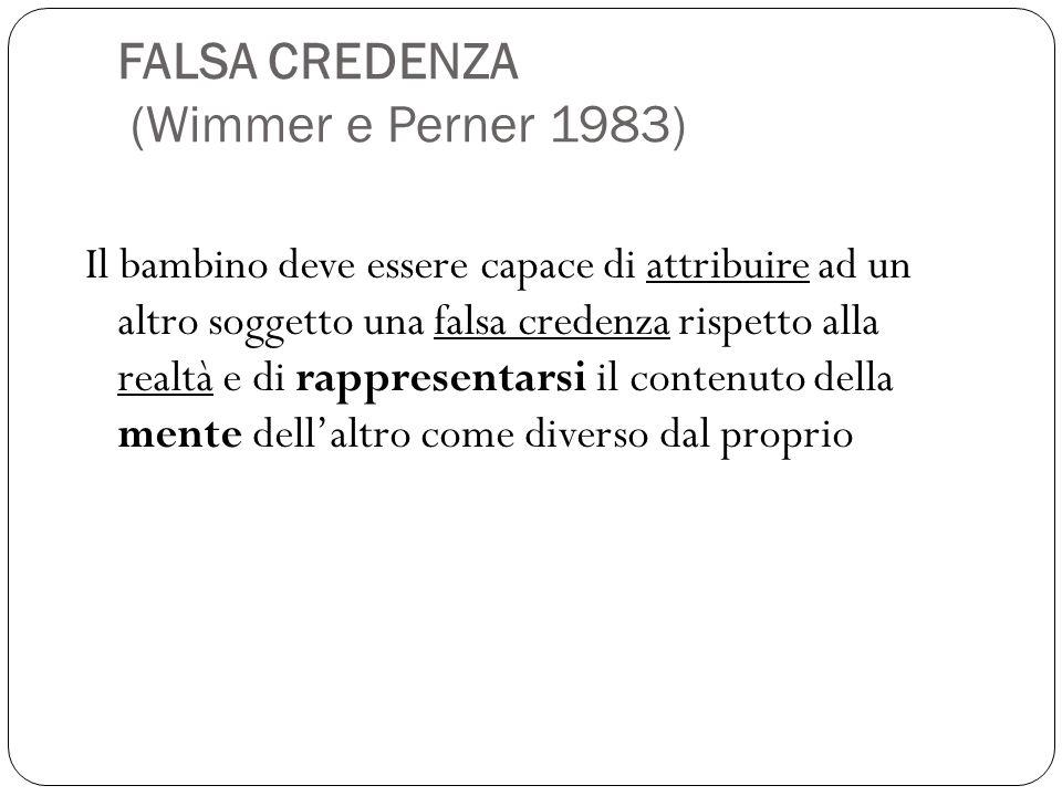 FALSA CREDENZA (Wimmer e Perner 1983)