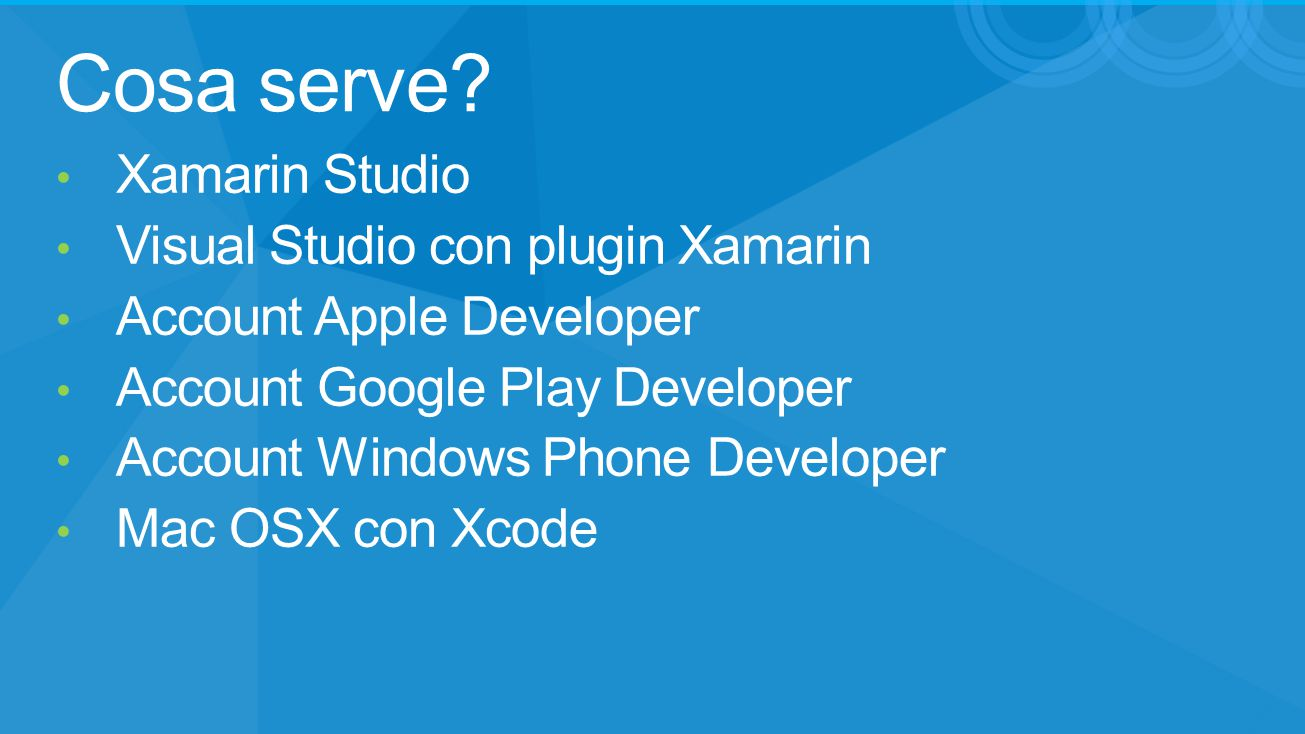 Cosa serve Xamarin Studio Visual Studio con plugin Xamarin