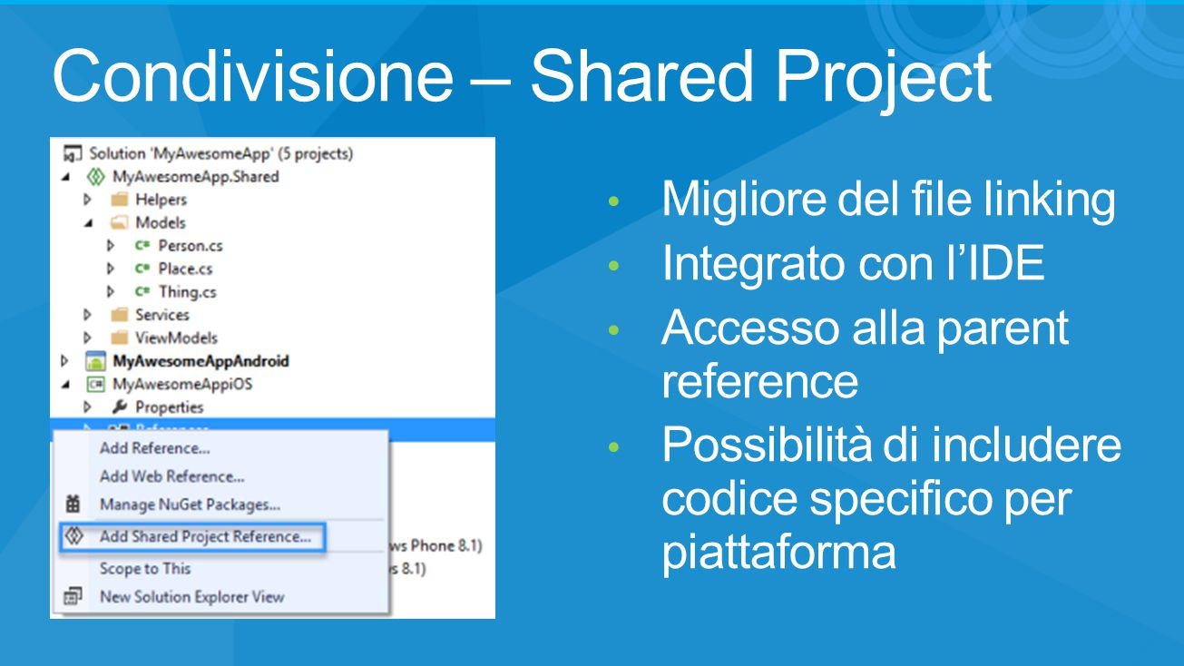 Condivisione – Shared Project