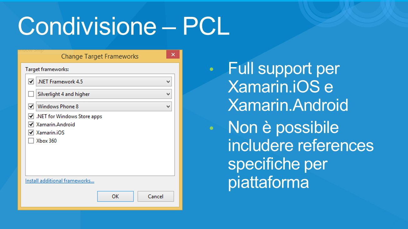 Condivisione – PCL Full support per Xamarin.iOS e Xamarin.Android