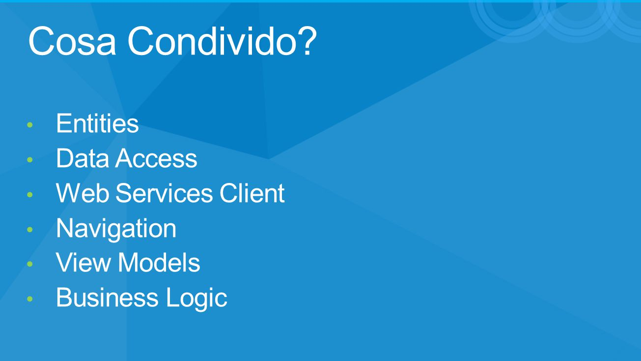 Cosa Condivido Entities Data Access Web Services Client Navigation