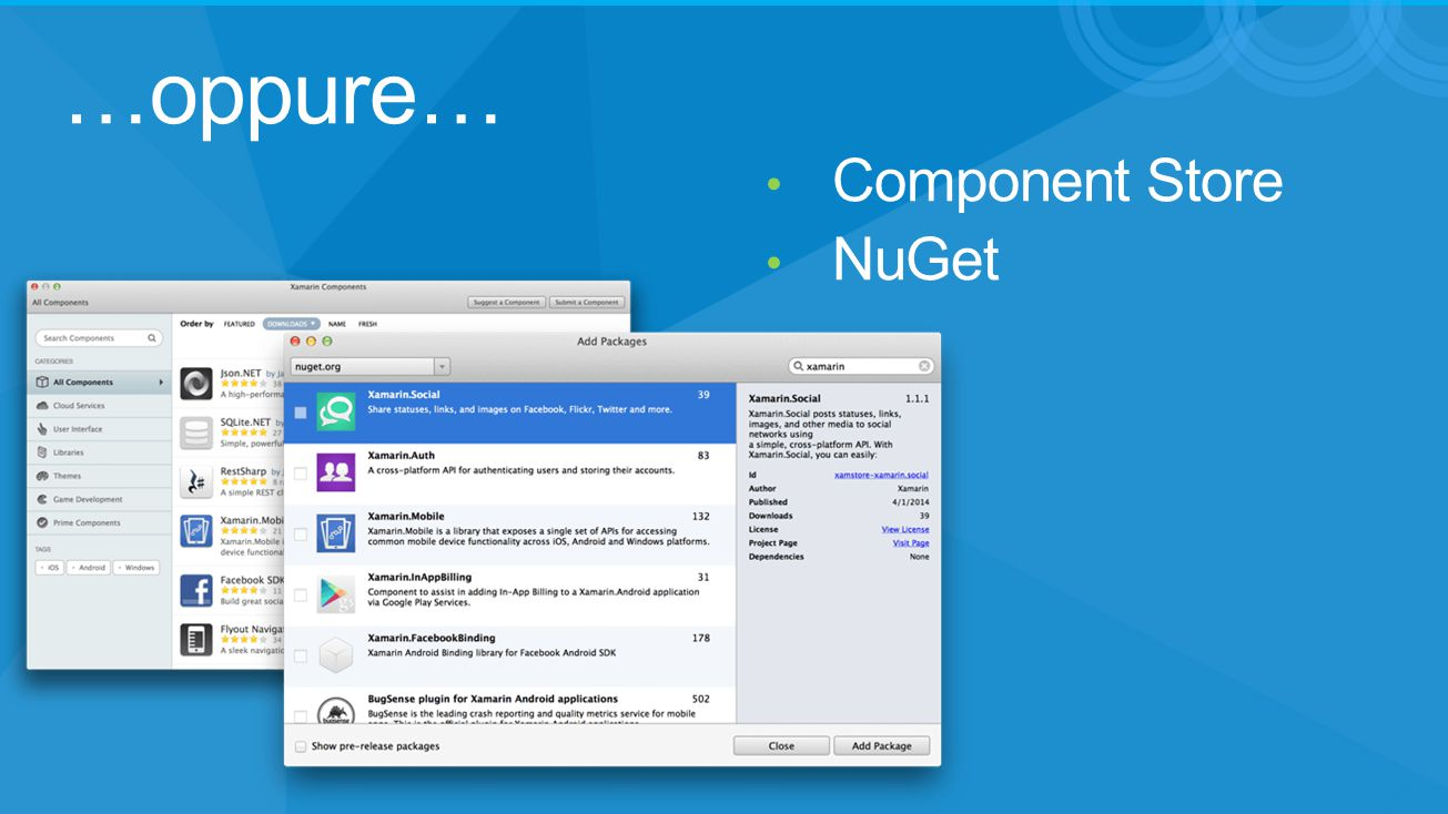 …oppure… Component Store NuGet