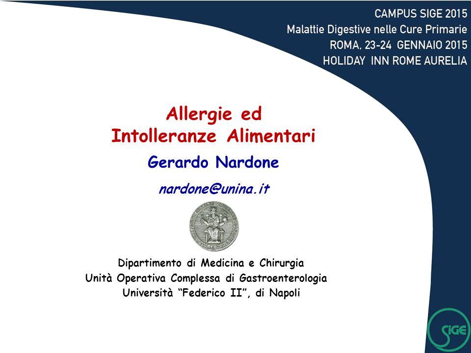 Allergie ed Intolleranze Alimentari