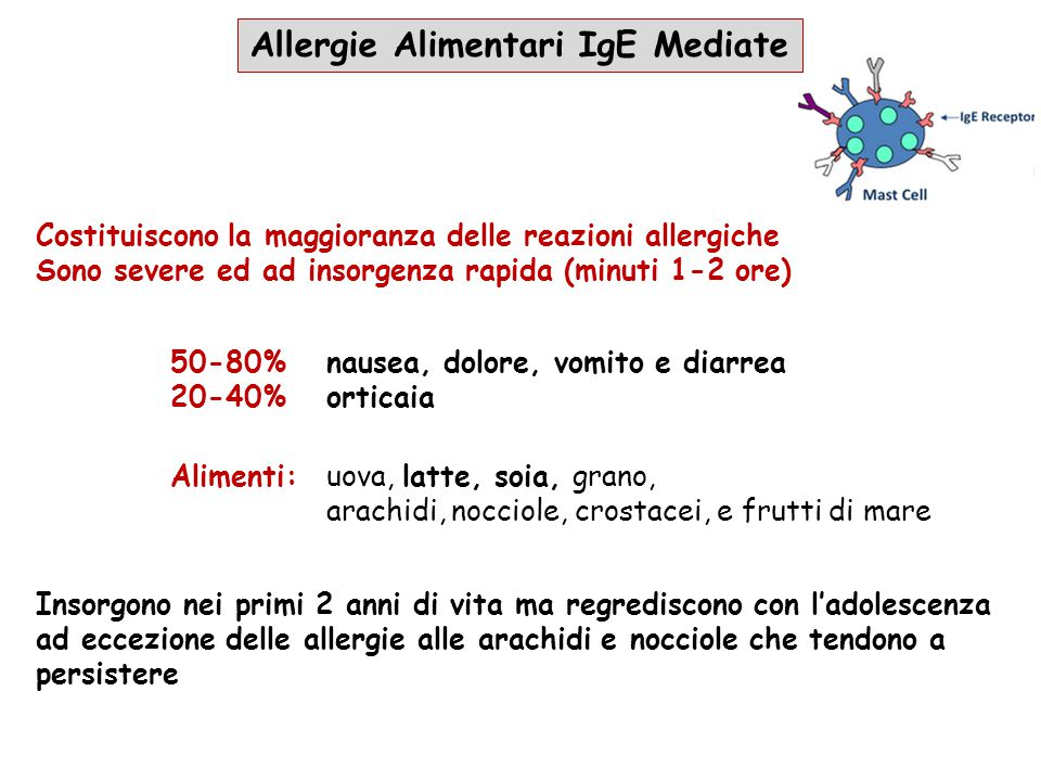 Allergie Alimentari IgE Mediate