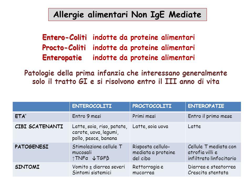 Allergie alimentari Non IgE Mediate