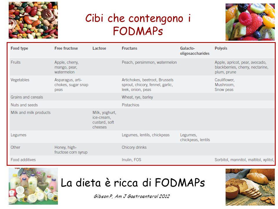 Cibi che contengono i FODMAPs