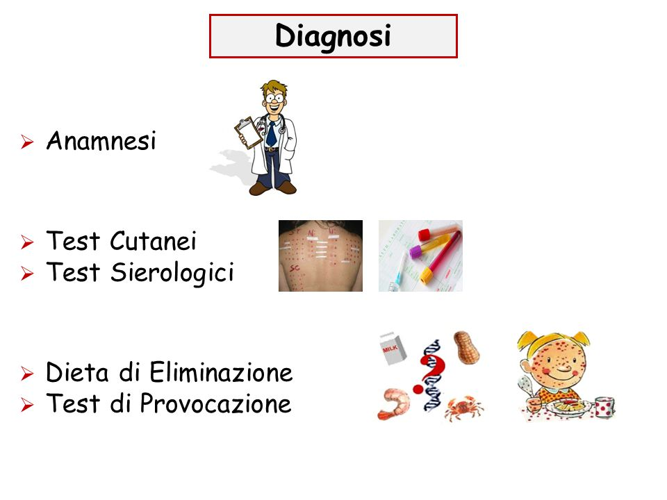 Diagnosi Anamnesi Test Cutanei Test Sierologici Dieta di Eliminazione
