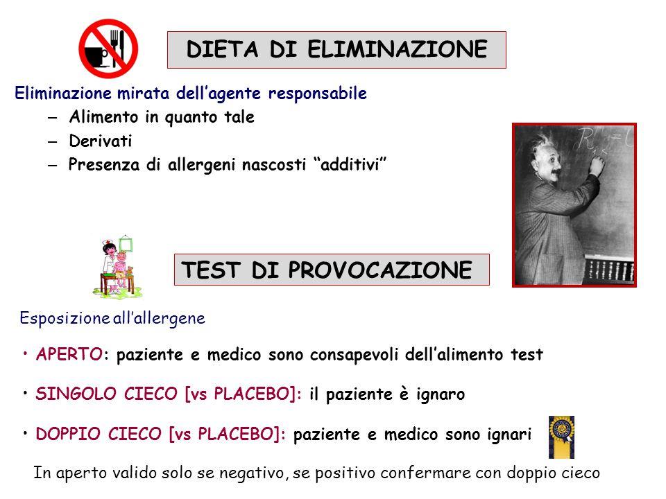 DIETA DI ELIMINAZIONE TEST DI PROVOCAZIONE