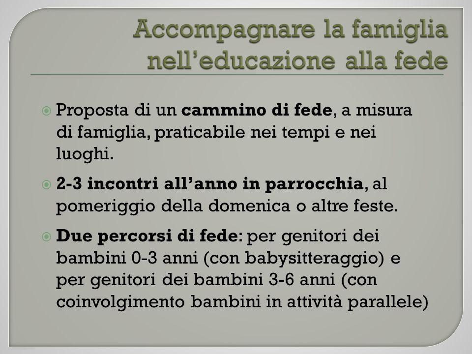 Accompagnare la famiglia nell'educazione alla fede