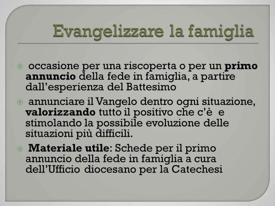 Evangelizzare la famiglia