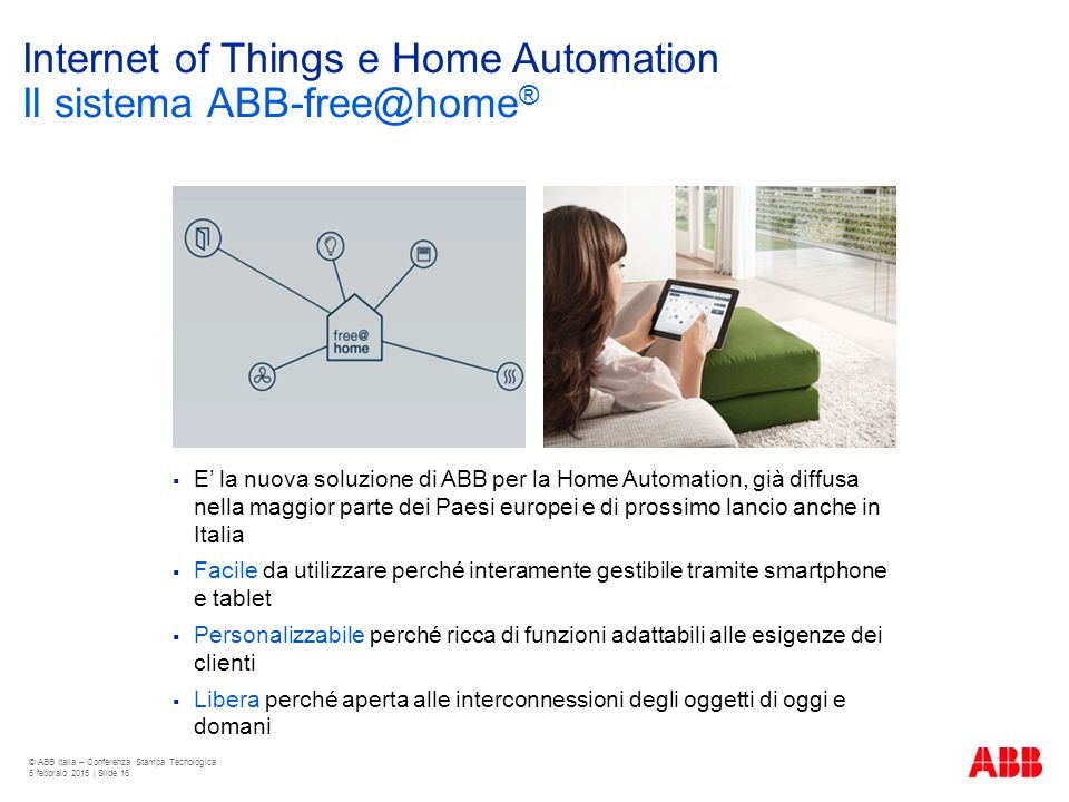 Internet of Things e Home Automation Il sistema ABB-free@home®