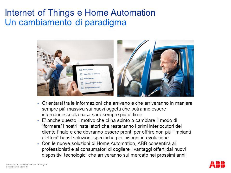 Internet of Things e Home Automation Un cambiamento di paradigma