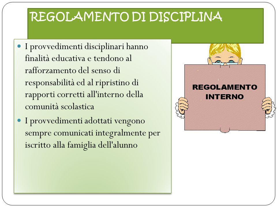 REGOLAMENTO DI DISCIPLINA