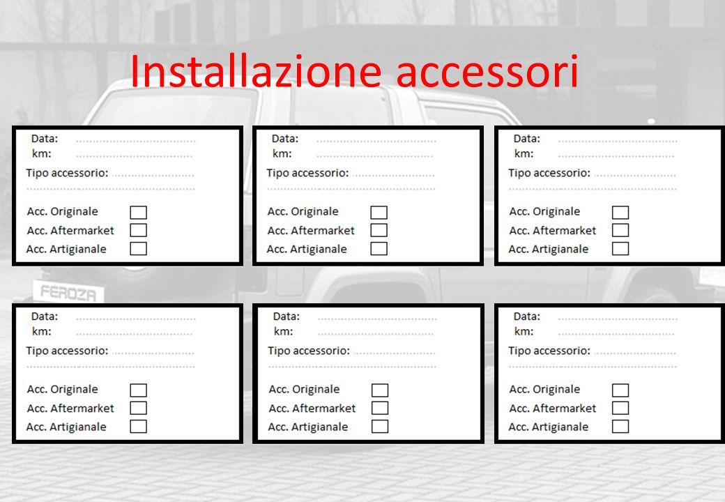 Installazione accessori