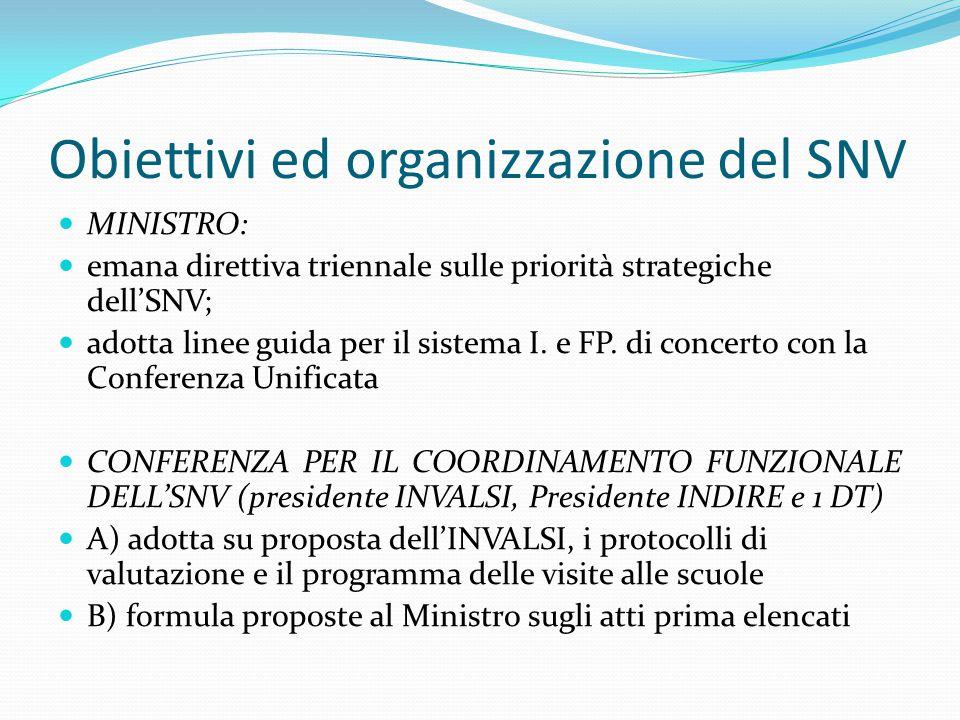 Obiettivi ed organizzazione del SNV