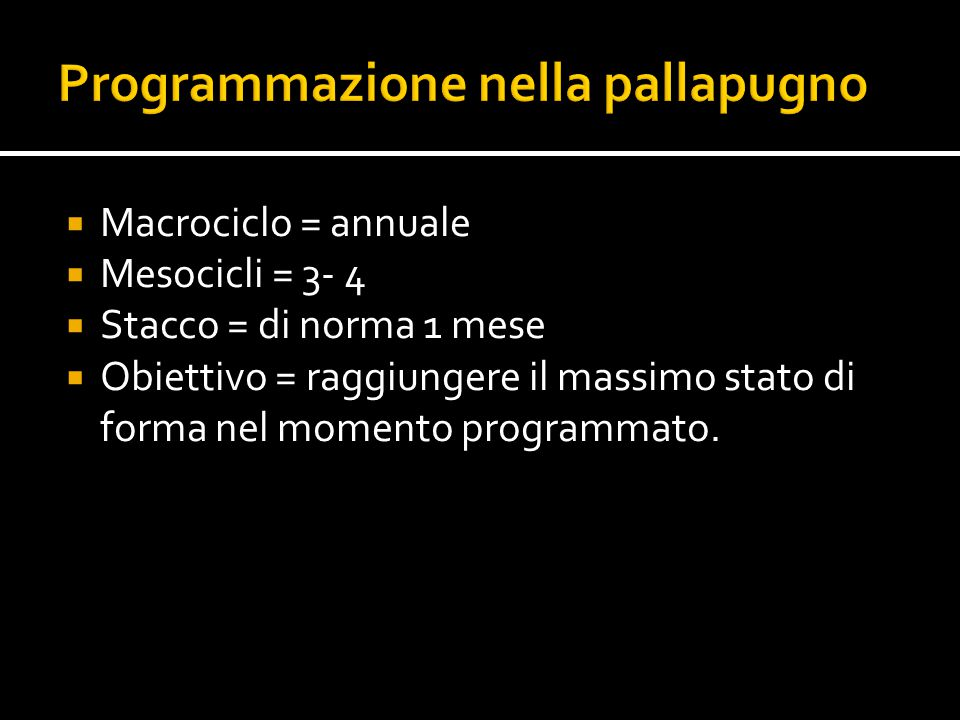 Programmazione nella pallapugno